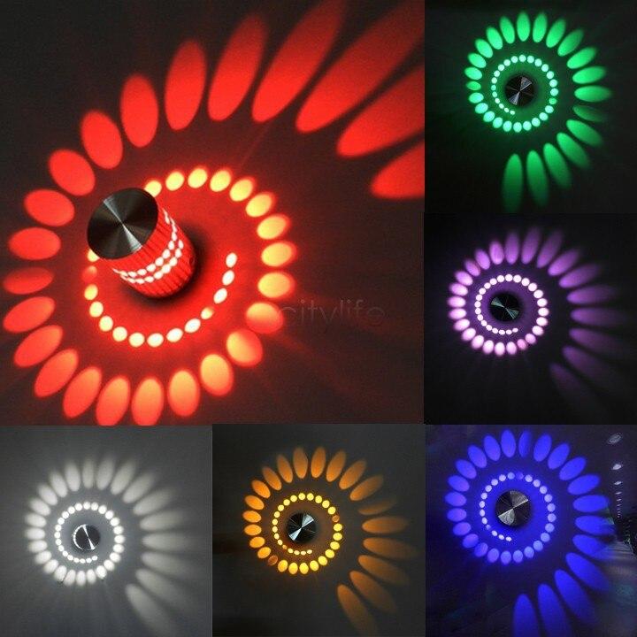 Cool Spiral Shape Modern LED Light Aluminum Wall Lamp 3W Aisle Bedroom  Corridor Porch Background Light Luminous Lamps SV008072#-in LED Panel Lights  from ...