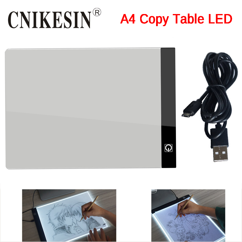 CNIKESIN LED Graphic Tablet Writing Painting Light Box Tracing Board Copy Pads Digital Drawing Tablet Artcraft A4 Copy Table LED