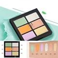 6 Kit de Contorno de Color Crema Facial Corrector Paleta Púrpura Corrector de Maquillaje Highlighter Bronceador Oro Tono de Luz Verde 6in1