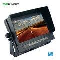 7 polegada HD 800x480 Tela Digital de Segurança Do Veículo Car rear view Monitor LCD À Prova D' Água IP68, falante embutido