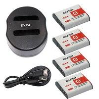 4Pcs 1300mAh NP BG1 NP BG1 Camera Batteries+USB Charger for SONY Cyber shot DSC H3 DSC H7 DSC H9 DSC H10 DSC H20 DSC H50 DSC H55