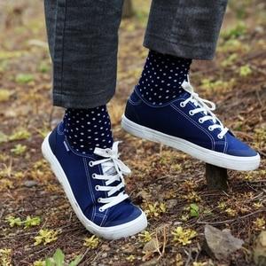 Image 5 - Match Up adam lüks renkli iş marka çorap, penye pamuk çorap abd 7.5 12 (5 çift/grup)