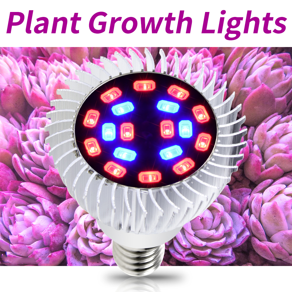E27 Led Plant Lighting E14 LED Bulbs Seedling Lamp SMD 5730 Full Spectrum Grow Light 18leds For Indoor Box AC85-265V kweeklampen