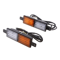 Vehemo Double Color 2pcs Universal Super Bright Tail Lights Accessories Stop Indicator Rear Lamps Replacement Warning