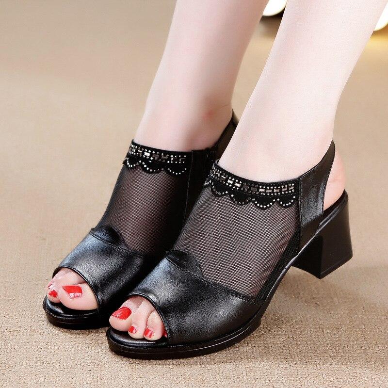 2018 New Summer Wedge Heels Women Sandals Open Toe Fish Head Platform Shoes High Heels Slingbacks Women Shoes 86 цена и фото