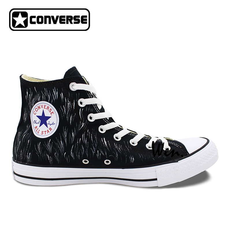 f0422b936950 ... and street Aliexpress.com Buy Black Converse Chuck Taylor Canvas Shoes  Men Women Mamafaka Design Hand Painted ...