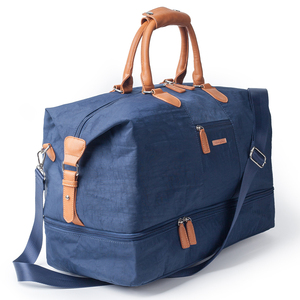 Image 3 - Mealivos Canvas Waterproof Travel Tote Duffel shoulder handbag Weekend Bag with Shoe Compartment