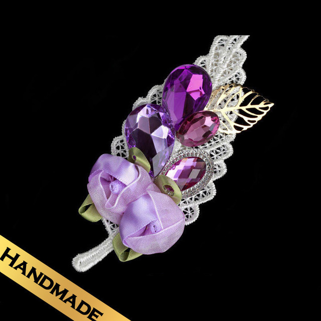 Special Hair Accessories Silk Acrylic Fashion Flowers Design Romantic Purple Sweet Hairpin Free Shipping Jewelry FS01A21GM6