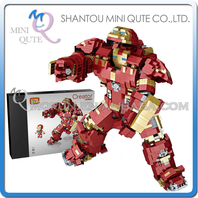 Mini Qute LOZ movie characters Kawaii avengers huge iron man plastic diamond building blocks action figures educational toy платье luann цвет синий