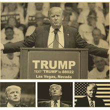 Classic retro Poster Donald Trump Retro Vintage Kraft Decorative Poster DIY Wall Sticker Delicate Home Bar Decor Gift
