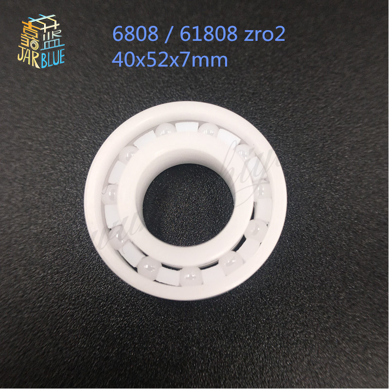 Free Shipping 6808 / 61808 zro2 full ceramic bearing 40x52x7mm ZRO2 ceramic bearing free shipping 697 619 7 7x17x5 mm full zro2 ceramic ball bearing