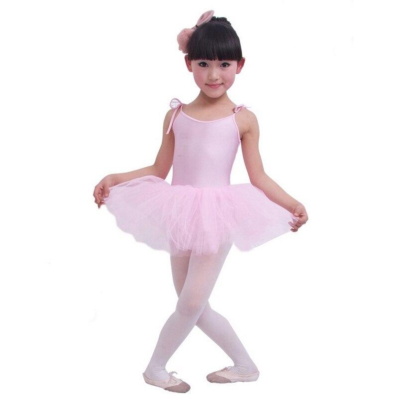 Bébé Fille Ballet Robe Enfants De Danse Tulle Tutu Robe de Bretelle Vêtements de Fitness Performances Usure Costume