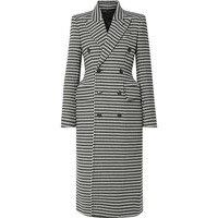 100% шерсть пальто женские длинные пальто Макси Зима Хаундстут плед шерсть пальто Мода Толстые теплая куртка 2018 новый высокого качества