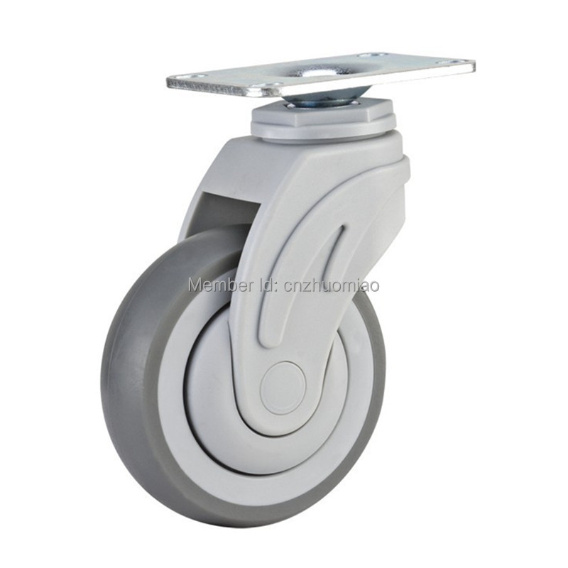 4 pcs Plastic swivel 5 inch light duty PU caster directional lock medical caster in Casters from Home Improvement