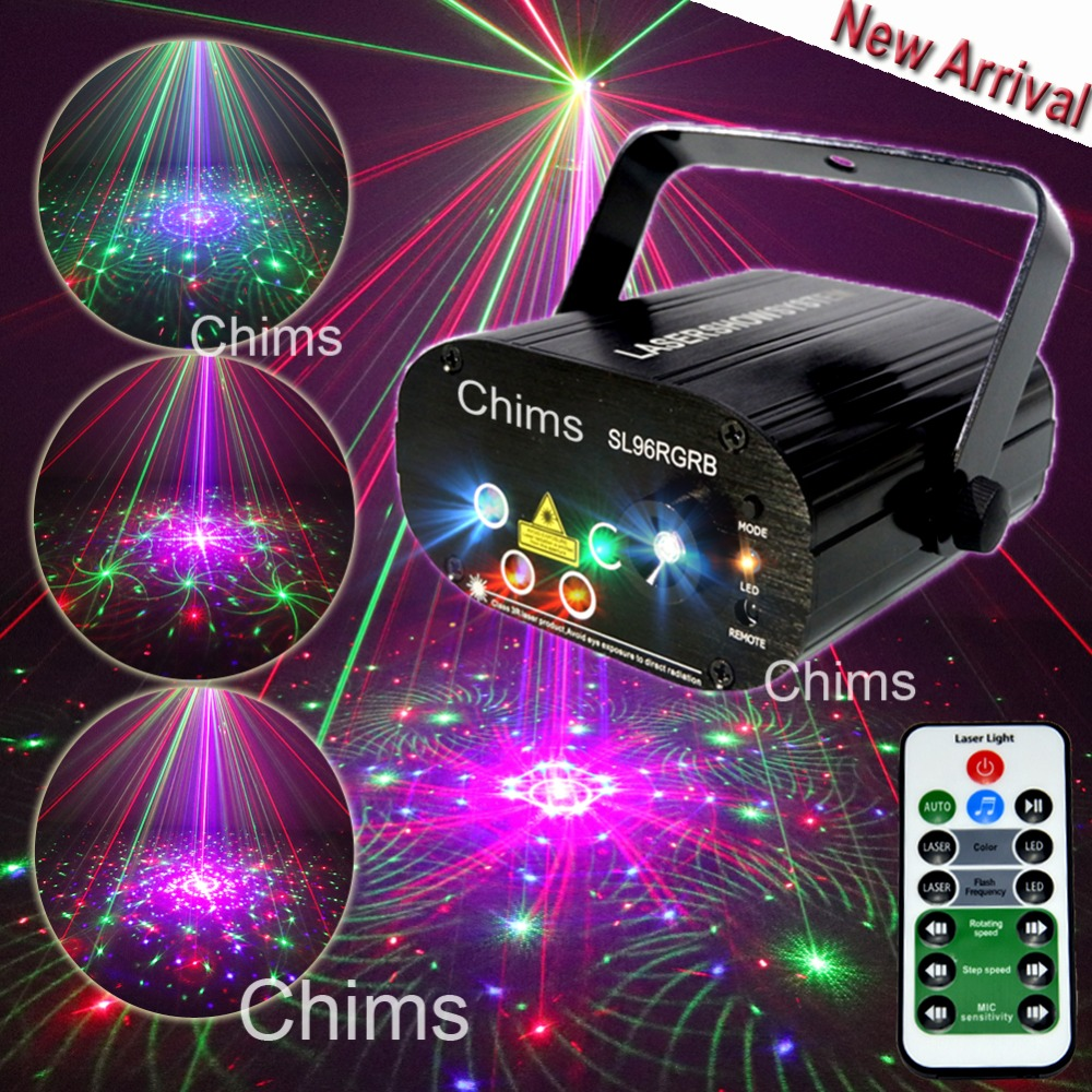 Chims RGB Stage Light Party Laser Light 96 Pattern Laser Projector Led Colorful DJ Music Xmas Disco Light Show Dance DJ Club Bar том пулс sonny berenice cuba club coolio beat nouveau dj bobo latino dance party 2009 2 cd