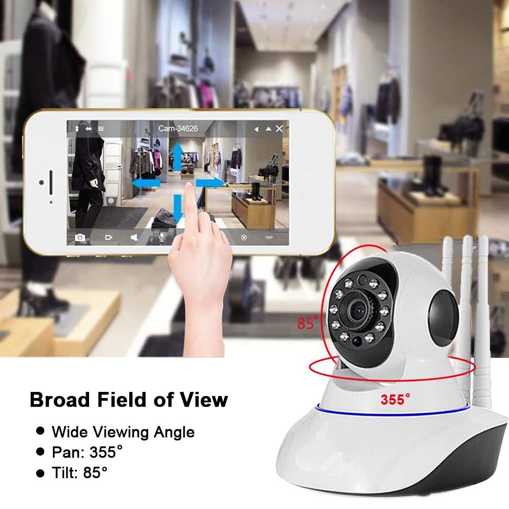 Cámara de seguridad IP de 1080 p impermeable 200 W de seguridad inalámbrica cámara IP 2018 Audio de dos vías inteligente casa Sistema de vídeo cable de alimentación USB