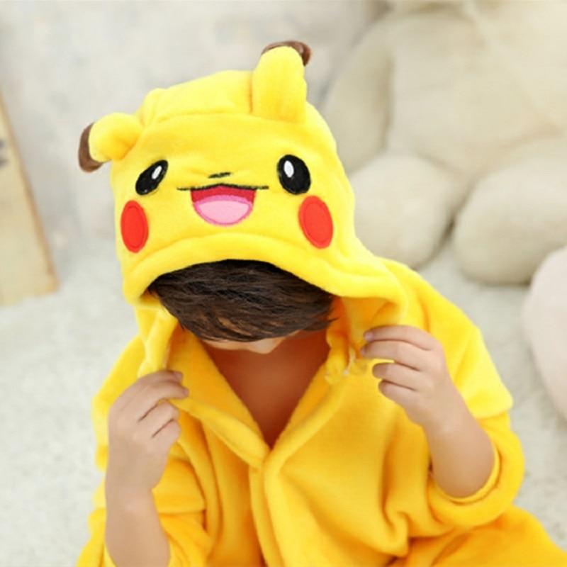 EOICIOI New Flannel pajama baby flicka pajama set Pikachu Stitch - Barnkläder - Foto 3