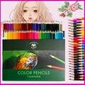 72 cores de madeira lápis coloridos lápis lapis de cor não-tóxico sem chumbo oleosa lápis colorido caneta para desenho da escola esboço