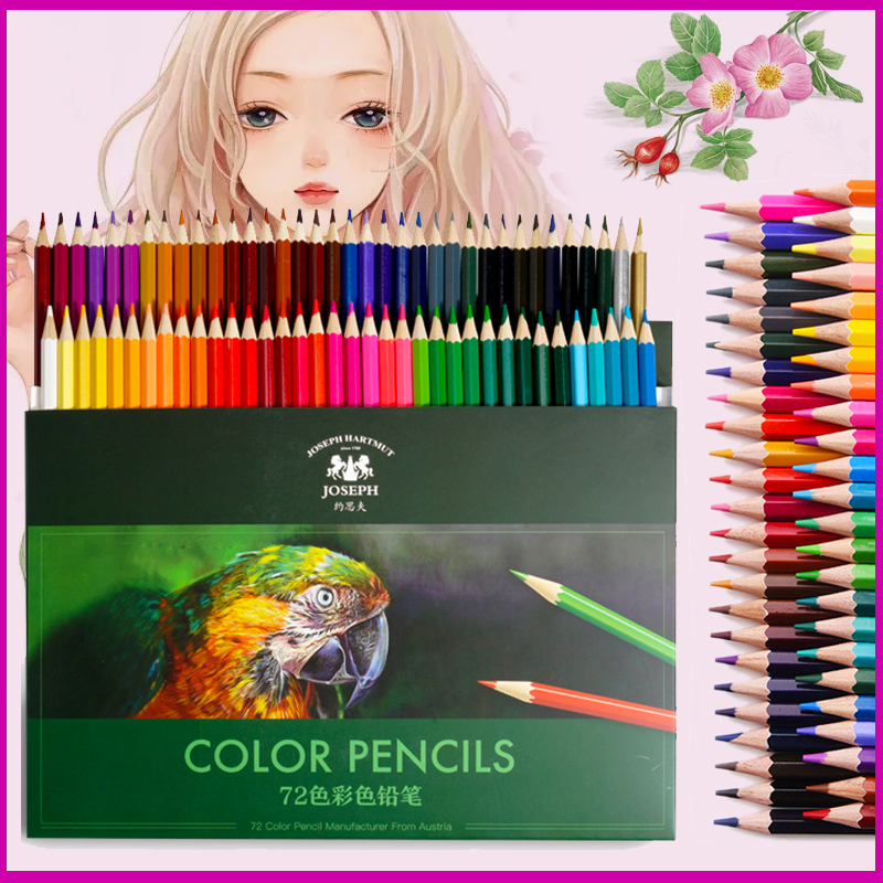 72Colors Wood Colored Pencils Lapis De Cor Non-toxic Lead-free Oily Colored Pencil Writing Pen For School Drawing Sketch