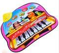 Língua russa New tapete musical animais de Piano tapete de atividades de bebes brinquedo esteira do jogo do bebê 73*60 cm