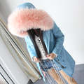 Женская Мода Большой енот меховой воротник длинные пальто с капюшоном парки верхней одежды Высокого искусственный мех подкладка зимняя куртка на открытом воздухе