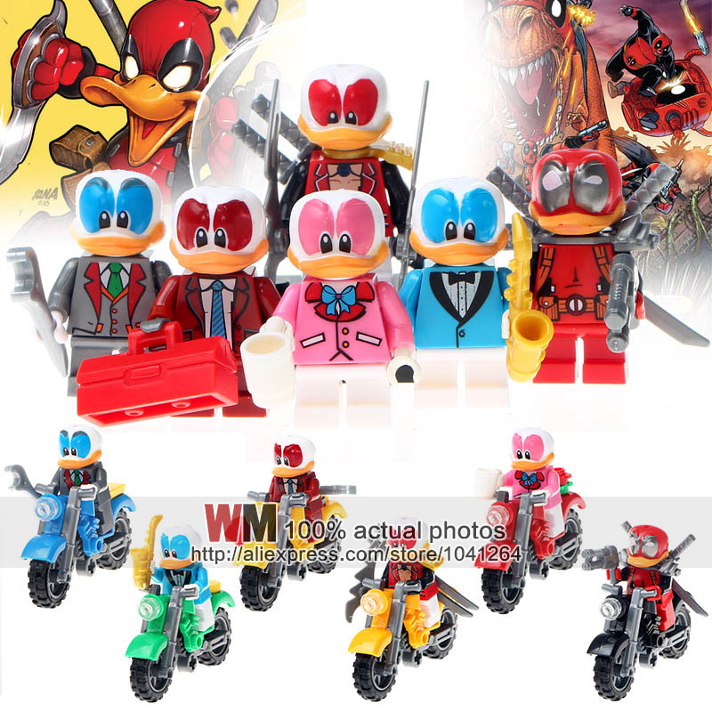 Building Blocks 6pcs/lot Jlb 3d58901-58906 Duck Super Hero With Motorcycle Kit Action Figures Children Gifts Toys Dropshipping With The Best Service Toys & Hobbies