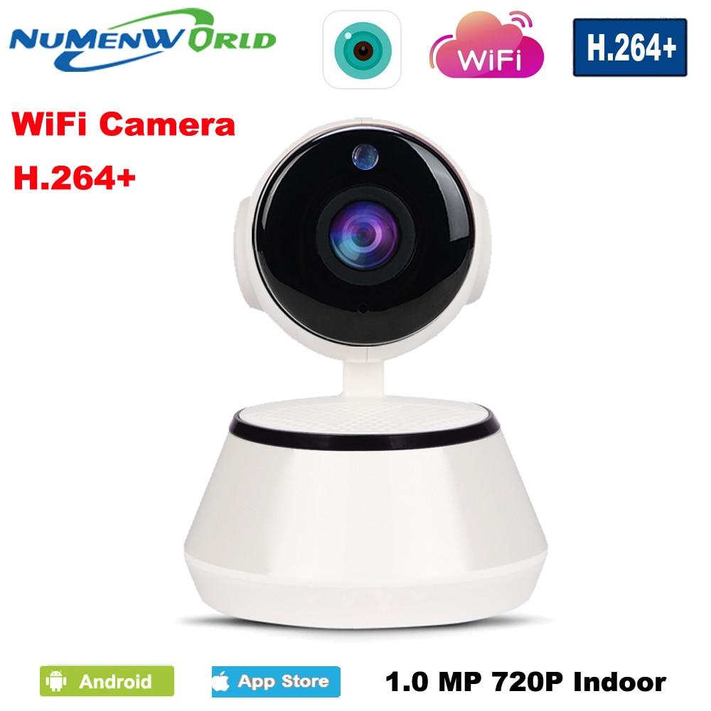 imágenes para Cámara IP inalámbrica Pan Tilt WI-FI 720P CCTV Cámara para seguridad del hogar con ranura Micro SD soporta micrófona y P2P aplicación gratis para iPhone y Android