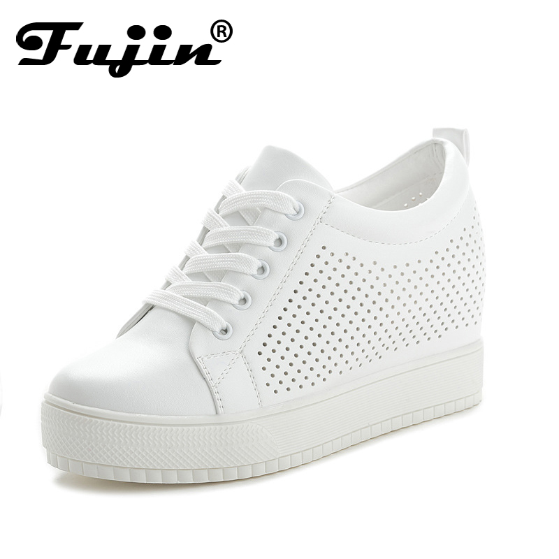 Fujin Spring Summer Women Sneakers Female Fashion Breathable Platform Shoe Casual Footwear White Shoes Women's Vulcanize Shoes gogc 2018 new floral denim slipony women breathable shallow shoes footwear flat shoes women fashion sneakers women summer spring
