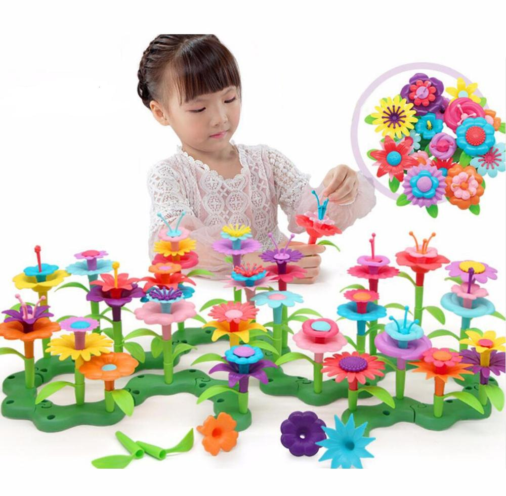 Flower Arranging Toys Buliding Blocks Toy Colorful Assembl Toys For Girl Creative Garden Toy Educational Toy Girl/kids Toys
