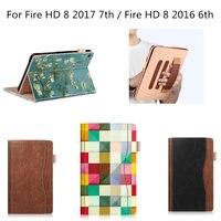 Folio Trường Hợp đối với Amazon Tất Cả new Fire HD 8 Tablet (2017 2016 7th/Thế Hệ)-Cover Slim Folding Đứng với Tự Động Sau Giấc Ng