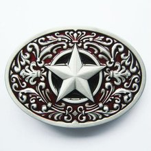 Wholesale Retail Red Oval Southwest Star Belt Buckle 100% Leed-Free Fast Delivery Free Shipping