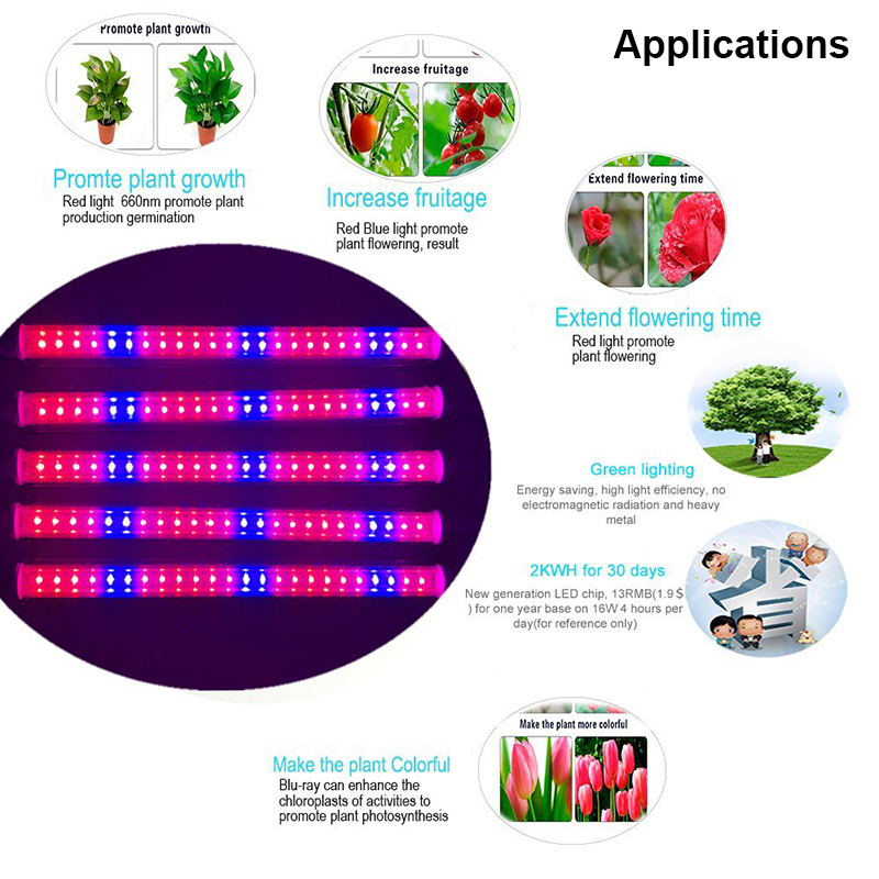 Купить с кэшбэком Fitolampy Growing Plant Lamps LED Grow Light 5730 Full Spectrum Plant Lighting For Plants Flower Seedling hydropocis Cultivation
