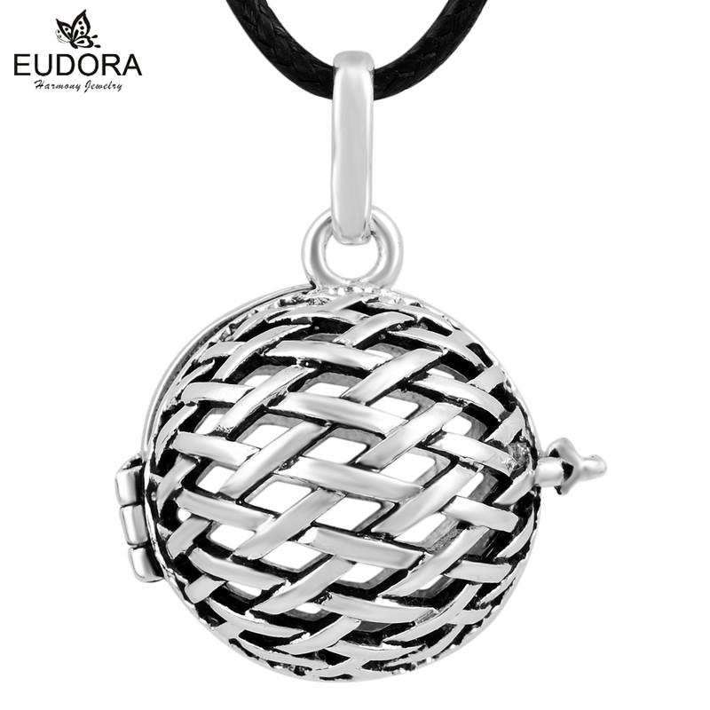 1PC Antique Floating Locket Charm Men Women Child Jewelry Cage Pendant Pregnancy Ball Engelsrufer Bijoux Maternity Bola Necklace
