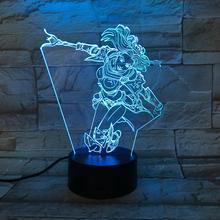 купить League of Legends LoL Heros Table Lamp Bedroom Touch Sensor Room Decor the Lady of Luminosity Luxanna Crownguard LED Night Light дешево