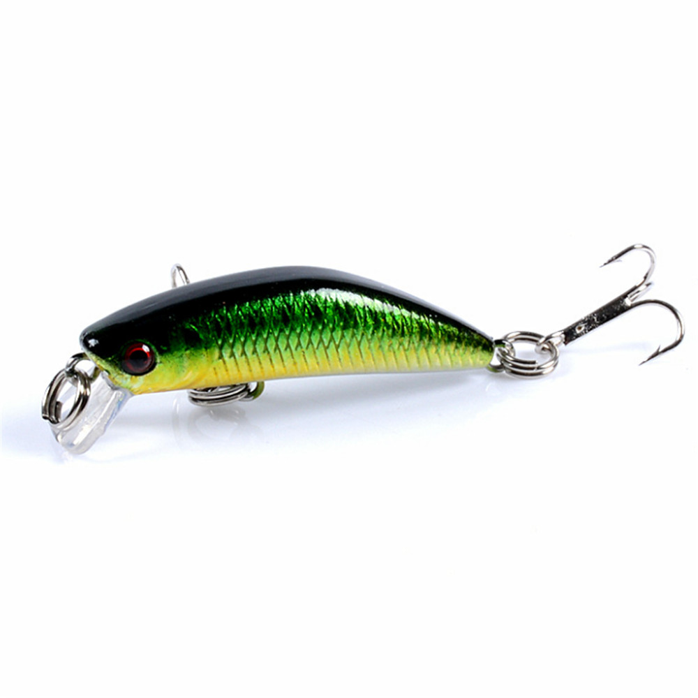 1PCS New Minnow Fishing Lure 45mm 2.8g Artificial Floating Hard Bait Tight Wobbler Jerkbait Swimbait Plastic Fish Fishing Tackle