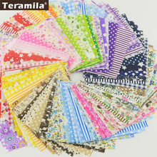 FREE SHIPPING 50pieces 10cmx10cm fabric stash cotton fabric charm packs patchwork fabric quilting tilda no repeat design tissue(China)