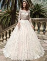 Vintage Wedding Dresses Long Sleeves Lace 2017 Robe De Mariage Bridal Party Couture Ball Gowns Fairytale Princess Plus Size