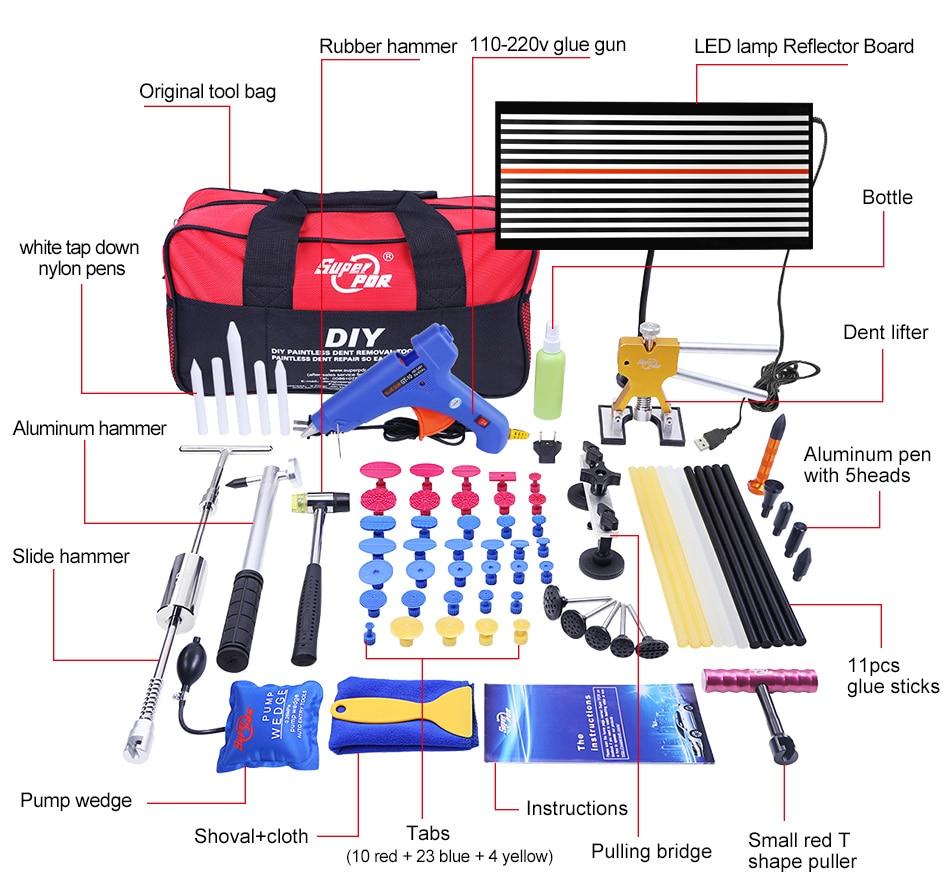 Narzędzia PDR Narzędzia do malowania wgnieceń Zestaw do usuwania - Zestawy narzędzi - Zdjęcie 2