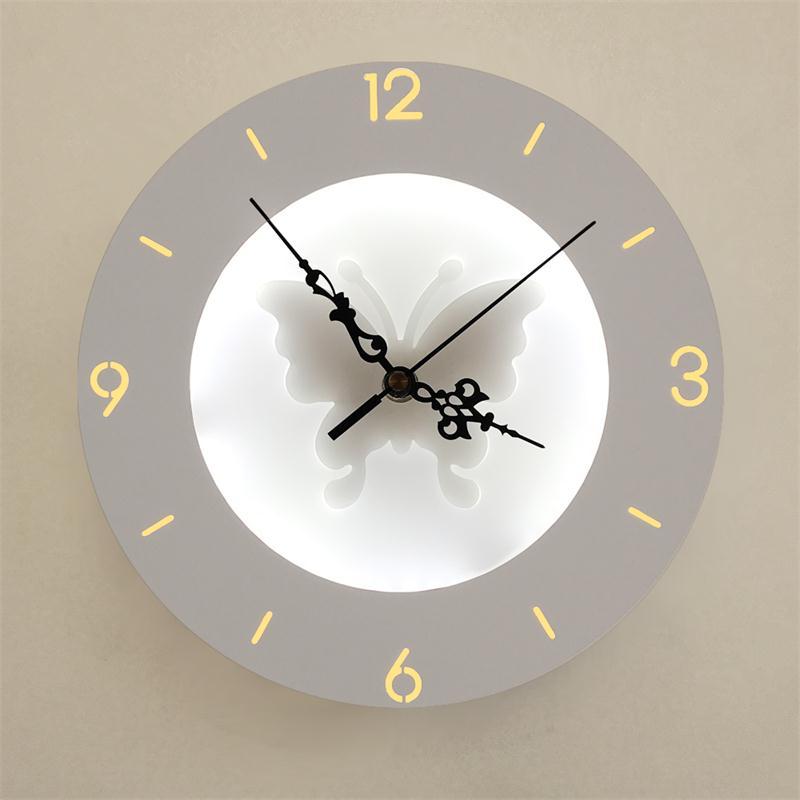 Dimètre 24 cm horloge Applique Murale Applique Luminaire Wandlamp appliques salon chambre miroir salle de bain lumière 9 W Applique Murale