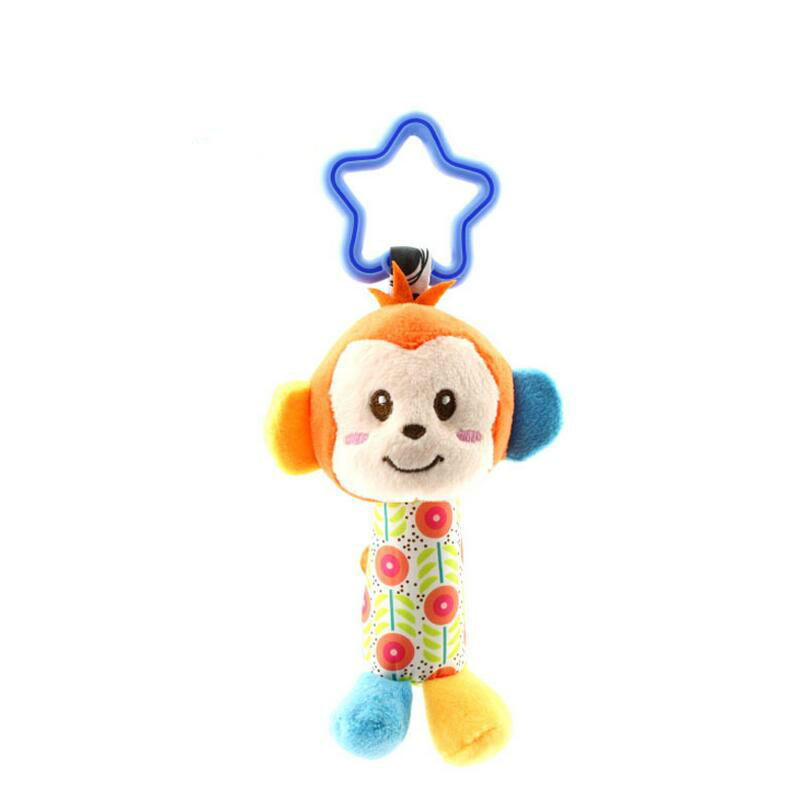 Image 4 - Baby Kids Bearoom Rattle Toys Cartoon Animal Plush Hand Bell Baby Stroller Crib Hanging Rattles Toys Infant Bed Hanging Gift-in Baby Rattles & Mobiles from Toys & Hobbies