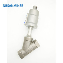 JDF 100S0NC 1-1/4 1-1/2 2 2-1/2 3 Pneumatic Air Normally Closed Angle Seat Valve Stainless Steel 304 Sanmin все цены