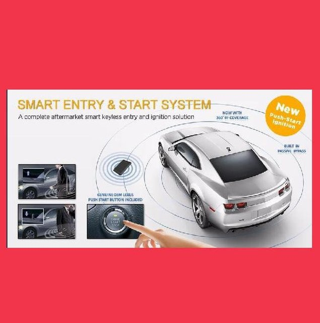 HOT SALE (Shipping Free)RFID Passive Keyless Enrty Car Alarm system  with engine push start PKE501P