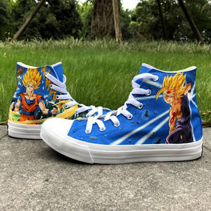 Wen Shoes Sneakers Dragon-Ball Hand-Painted Custom High-Top Comfort Canvas Plimsolls