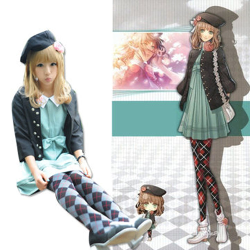 Anime Amnesia Cosplay Heroine Uniform Japanese Socks Full Set Clothing Halloween Cosplay Costume