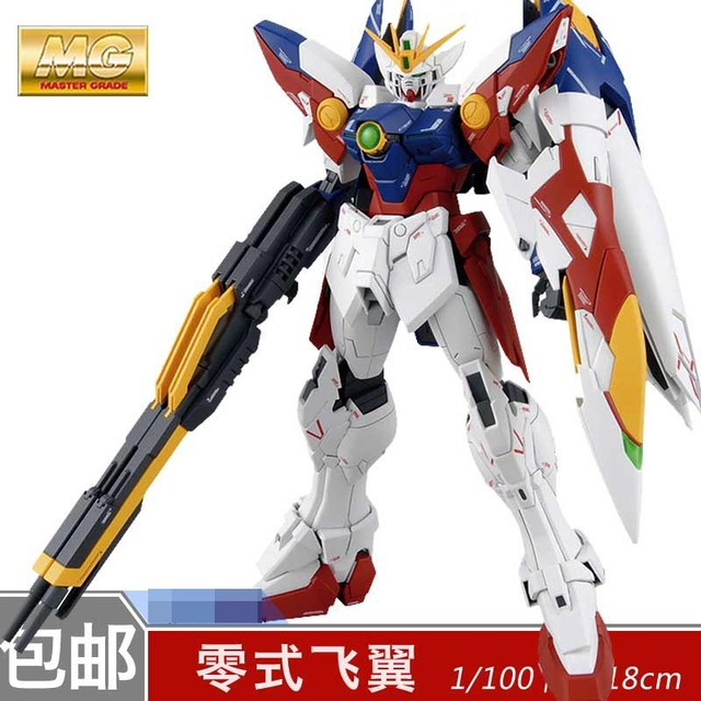 Daban Model MG 1/100 Wing Gundam Zero EW Action Figure Endless Waltz XXXG-00W0 Puzzle assembled model 18cm Robot kids Puzzle toy