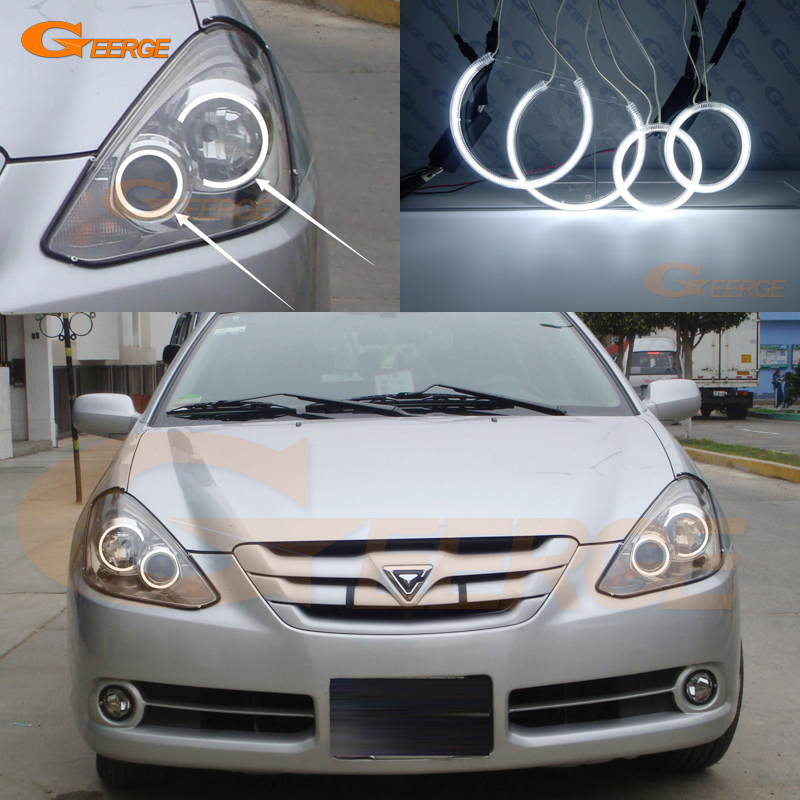 цена For Toyota Caldina 2005 2006 2007 Xenon headlight Excellent angel eyes Ultra bright illumination CCFL Angel Eyes kit Halo Ring