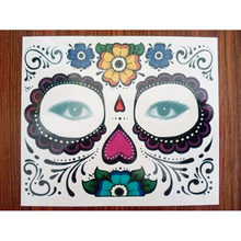 Temporary Tattoo Stickers Long Lasting Full Face Mask Waterproof Disposable Makeup  Tattoos Sticker For Halloween Party   9ea08e1dc040