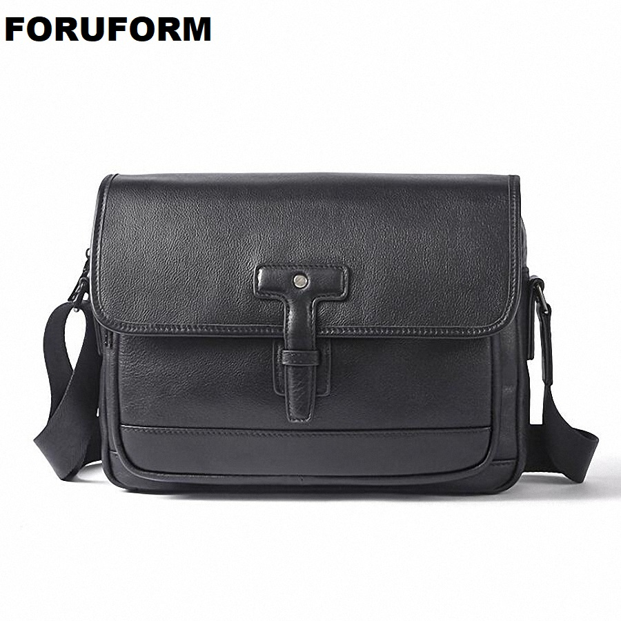 2018 Brand Genuine Leather Vintage Shoulder Bag Men Messenger Bags Small Casual Flap Zipper Design Male CrossBody Bag LI-2313 vintage canvas messenger bag high quality womens crossbody bags bend zipper design casual small flap tote bag