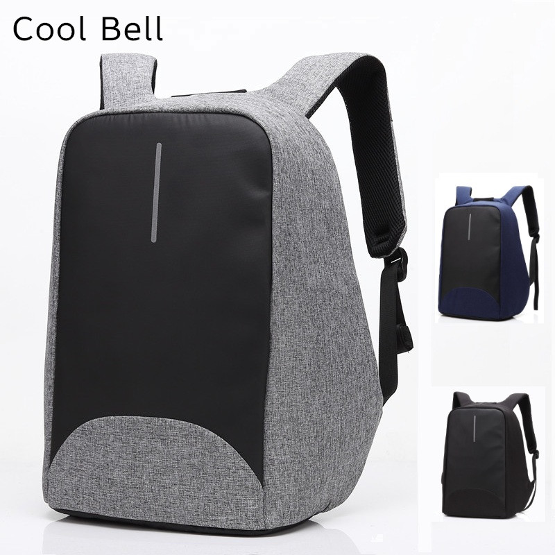2017 Newest Cool Bell Brand Backpack For Laptop 15,15.6,Notebook 14,15.4 Compute Bag,Office Worker,Free Drop Shipping 8001