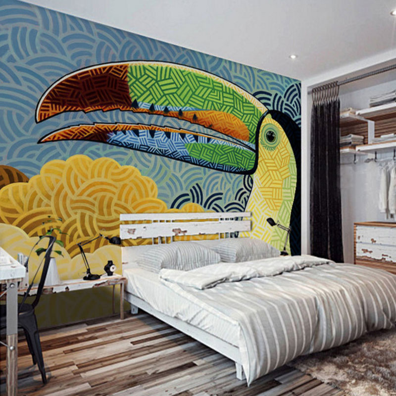 photo wall mural decoration wallpaper Modern Abstract Graffiti Art kids personalized room non-woven fabric material bedroom popular large mural personality abstract modern art wallpaper sofa background ship nostalgia non woven wallpaper bedroom